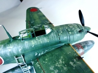 1/48 Kawanishi N1K1 Kyofu  Type 11 from Tamiya+Aires
