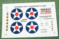 Grumman XF5F-1 Skyrocket (Minicraft model kits)