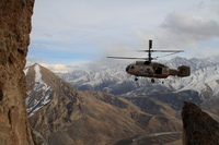 Вертолеты в горах. Ка-32 и Ми-8.