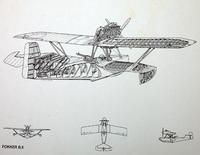 Fokker B.II, 1:72, самоделка