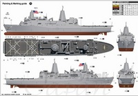ДВКД USS New York (LPD-21), 1:250, самоделка