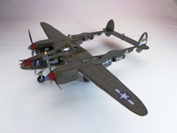 "1/72 Lockheed P-38J ""Lightning"" from Academy+Eduard+Экипаж"
