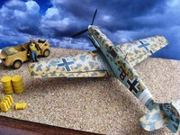 Мессершмит Bf-109Е Tamiya + Aires + Quickbust  Scale: 1/72