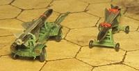 Ракеты Х-58 на аэродромно-складских тележках, 1:72, самодел