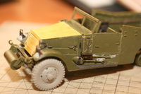 M3 Scout US Army military car Zvezda 1/35